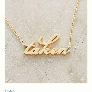 Anthropologie Taken 14K Gold Vermeil Necklace NWT